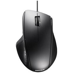 BSMLU308BK 有線レーザーマウス[USB・Mac/Win]静音(5ボタン・ブラック)