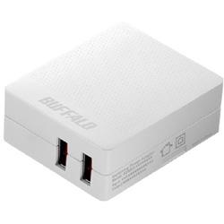 USB-ACチャージャー APS2.4A 2ポート BSMPA2418P2WH ホワイト