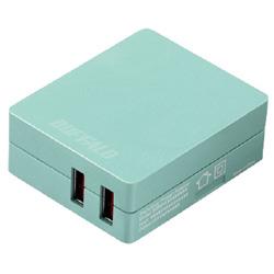 USB-ACチャージャー APS2.4A 2ポート BSMPA2418P2BL ブルー