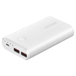 BSMPB10028P2 モバイルバッテリー ホワイト [10050mAh /2ポート /microUSB /充電タイプ]