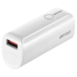 BSMPB3318P1 モバイルバッテリー ホワイト [3350mAh /1ポート /microUSB /充電タイプ]