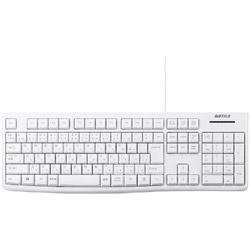 有線キーボード[USB・Win・108キー] BSKBU100WH ホワイト