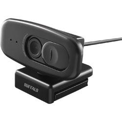 BUFFALO(バッファロー) 200万画素WEBカメラ 広角120°マイク内蔵 ブラック BSW508MBK ブラック
