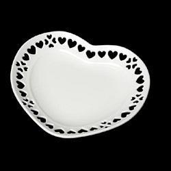 ミニチュア食器 ハートのお皿(白・87ミリ)(タミヤデコレーションシリーズ)