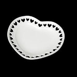 ミニチュア食器 ハートのお皿(白・70ミリ)(タミヤデコレーションシリーズ)