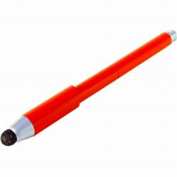 スマートフォン対応[静電式・感圧式] ファイバーヘッドタッチペン 低重心タイプ (オレンジ) STP-07/OR