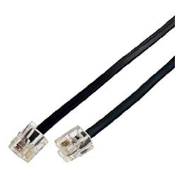 電話機コード 6極4芯 黒 0.5m BPB TB005BK