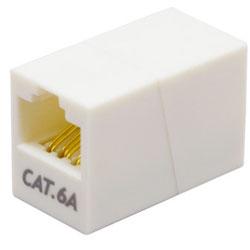 LANケーブル延長用 中継アダプタ (RJ45・8極8芯・ストレート全結線・UTP・カテゴリー6A準拠) CAT-866AM