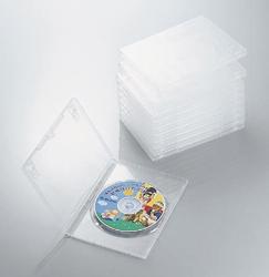 CCD-DVD03CR(DVDトールケース/1枚収納/標準タイプ/10枚セット/クリア)