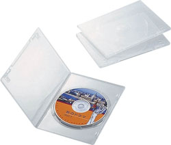 CCD-DVDS01CR(DVDスリムトールケース/3枚パック/クリア)