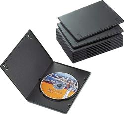 CCD-DVDS03BK(スリムDVDトールケース/10枚パック/ブラック)