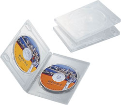 CCD-DVD04CR(DVDトールケース/3枚パック/クリア)