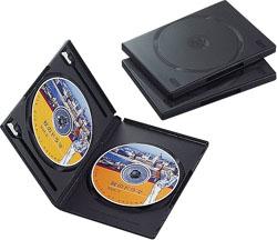 CCD-DVD04BK(DVDトールケース/3枚パック/ブラック)