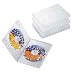DVDトールケース 2枚収納×5 クリア CCD-DVD05CR