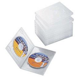 DVDトールケース(2枚収納×10枚セット・クリア) CCD-DVD06CR