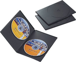 CCD-DVDS04BK(DVDスリムトールケース/3枚パック/ブラック)