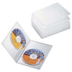 スリムDVDトールケース(2枚収納×10枚セット・クリア) CCD-DVDS06CR