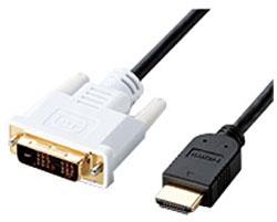 1.0mHIGH SPEED対応HDMI/DVI変換ケーブル(HDMI⇔DVI)DH-HTD10BK