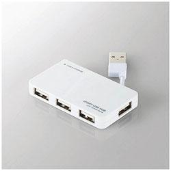 USB2.0ハブ〔4ポート・バスパワー・Mac/Win〕ホワイト U2H-YKN4BWH