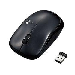 ワイヤレスIR LEDマウス[2.4GHz・USB・Mac/Win/PS5対応] M-IR07DRシリーズ (3ボタン・ブラック) M-IR07DRBK