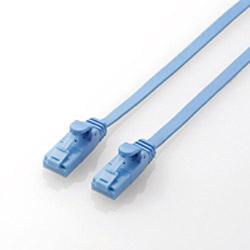 カテゴリー6対応 フラットLANケーブル (ブルー・0.5m) LD-C6FT/BU05