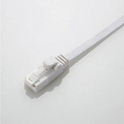 カテゴリー6対応 フラットLANケーブル ツメ折れ防止 (ホワイト・3m) LD-C6FT/WH30