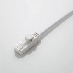 カテゴリー6対応 やわらかLANケーブル (爪折れ防止・ホワイト・3m) LD-C6YT/WH30