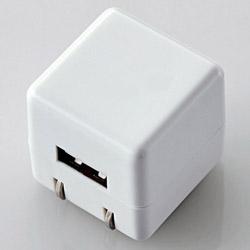 オーディオ用AC充電器/for Walkman/CUBE/1A出力/USB1ポート(ホワイト) AVS-ACUAN007WH