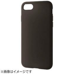 iPhone 8 シリコンケース ブラック PM-A17MSCBK