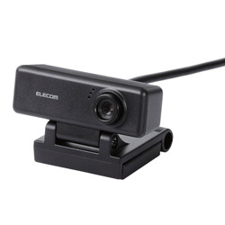 UCAM-C310FBBK PCカメラ/100万画素/マイク内蔵/高精細ガラスレンズ