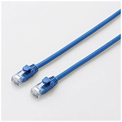 CAT6A LANケーブル やわらか(0.3m・ブルー) LD-GPAYC/BU03