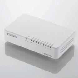 EHC-G08PA2-JW Giga対応スイッチングHub [8ポート・マグネット付・ホワイト] 電源外付け・プラスチック筐体