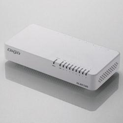 EHC-G08PN2-JW Giga対応スイッチングHub [8ポート・マグネット付・ホワイト] 電源内蔵・プラスチック筐体