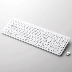 ELECOM(エレコム) TK-FDP099TWH キーボード PS5対応  超薄型コンパクト ホワイト [USB /ワイヤレス]