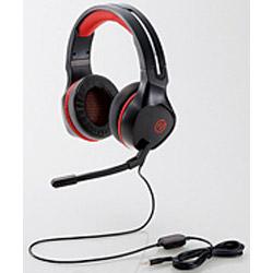 ELECOM(エレコム) HS-G01BK 有線ゲーミングヘッドセット オーバーヘッド型 PS5対応 [4極ミニプラグ/コントローラ付/ブラック]