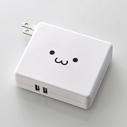 DE-AC01-N5824 モバイルバッテリー ホワイトフェイス [5800mAh /2ポート /充電タイプ]