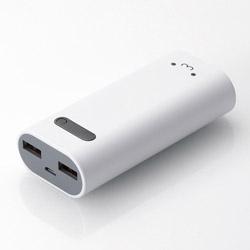ELECOM(エレコム) DE-M01L-6400 モバイルバッテリー ホワイトフェイス [6400mAh /2ポート /microUSB /充電タイプ]