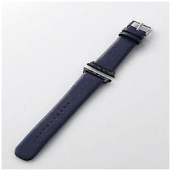 Apple Watch 42mm用 ヴィーガンレザーバンド(ネイビー) AW-42BDLFSBU