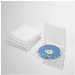 CD/DVD/Blu-ray対応収納スリムケース (1枚収納×5セット・クリア) CCD-JPCS5CR