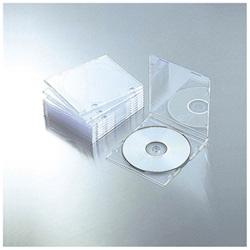 CD/DVD/Blu-ray対応収納スリムケース (1枚収納×10セット・クリア) CCD-JSCS10CR