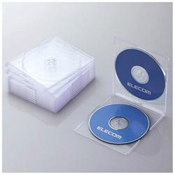CD/DVD/Blu-ray対応収納スリムケース (2枚収納×10セット・クリア) CCD-JSCSW10CR