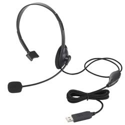 HS-HP21UBK ヘッドセット ブラック[USB /片耳 /ヘッドバンドタイプ]