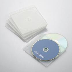 CD/DVD/Blu-ray用ディスクトレイ(両面収納) 2枚×5