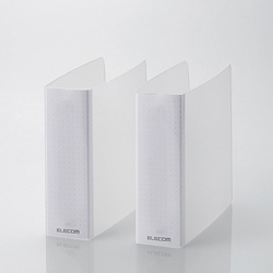 CCD-B01WCR DVD・CD不織布ケース専用ファイル(12枚収納×2冊入り/クリア)