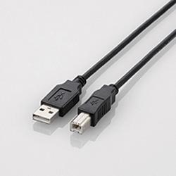 0.7m USB2.0ケーブル 【A】⇔【B】 (ブラック) U2C-BN07BK