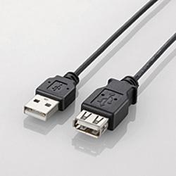 U2C-EXN20BK(極細USB2.0延長ケーブル/2.0m/A-A延長タイプ/ブラック)