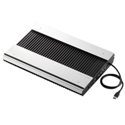 エレコム(ELECOM) ノートPC用クーラー [USB接続(USBハブ搭載)] 高耐久性・極冷タイプ(15.4〜17型対応・シルバー/ブラック) SX-CL24LBK