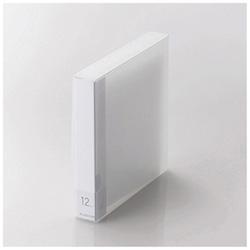 [12枚収納] Blu-ray/DVD/CD用ディスクファイル (クリア) CCD-FB12CR