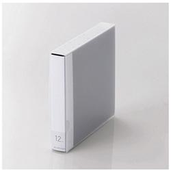[12枚収納] Blu-ray/DVD/CD用ディスクファイル (ブルー) CCD-FB12BU