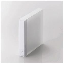 [12枚収納] DVD/CD用ディスクファイル (クリア) CCD-FS12CR